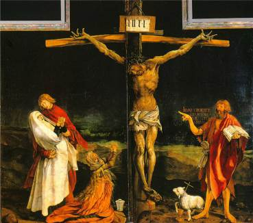 From the Isenheim Alterpiece, painted by Matthias Grunewald